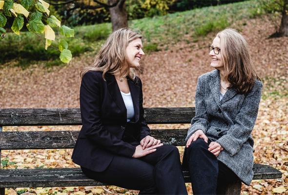 Die Trainerinnen Anne Cormann und Christiane Orth